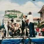 Última homenagem à TV Coligadas em um desfile de aniversário, por volta de 2000
